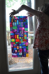 Sharpie Stained Glass